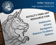 Unicorn Clipart, Fantasy Vector Art, Royalty-Free Licence, Pattern for Crafts