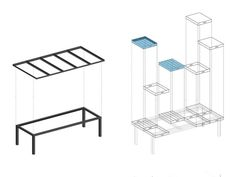 TABLE FOR A CITY / A scheme showing the construction idea.