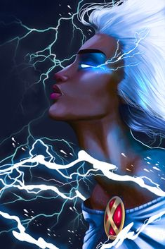 Storm by Abigail Jones - Marvel Universe - rosa Storm Xmen, Storm Marvel, Marvel Xmen, Marvel Comics Art, Storm Comic, Spiderman Marvel, Comic Movies, Comic Book Characters, Marvel Characters