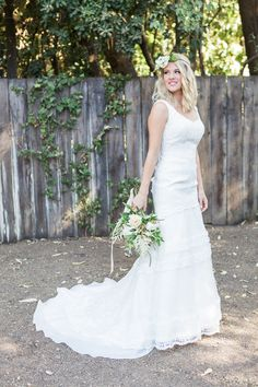 David's Bridal bride Gaby puts a Boho spin on her Melissa Sweet for David's Bridal gown