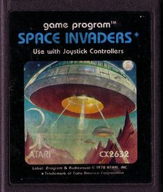 Space Invaders was one of my favorite arcade games. This Atari version did not disappoint. Vintage Video Games, Retro Video Games, Vintage Games, Retro Games, Vintage Toys, Space Invaders, Retro Arcade, My Childhood Memories, Childhood Toys
