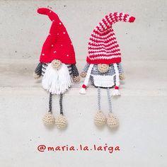 32 ideas crochet christmas gnome pattern free knitting for 2019 Crochet Christmas Decorations, Christmas Crochet Patterns, Christmas Knitting, Crochet Doll Pattern, Crochet Patterns Amigurumi, Crochet Dolls, Diy Crochet, Crochet Crafts, Crochet Projects