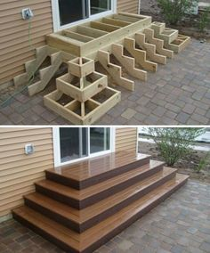 Home Discover Deck stairs - 27 gorgeous patio deck design ideas to inspire you updowny com Outdoor Projects Home Projects Project Projects Backyard Projects Types Of Stairs Deck Stairs Wood Stairs Front Porch Stairs House Stairs