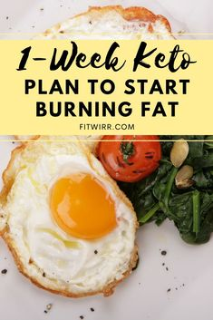 7-DAY KETO DIET MENU TO LOSE 10 LBS IN A WEEK. This keto diet menu is easy to follow and beginner friendly. It's perfect for anyone who needs ideas on what to eat on keto to reach ketosis and start burning fat. Lose your weight and burn crazy fat with this beginner's keto diet meal plan. High Fat Foods, Low Fat Diets, Low Carb Diet, Diet Dinner Recipes, Keto Recipes, Healthy Recipes, Diet Menu, Healthy Fats, Healthy Eating