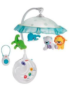 baby crib mobile with projector nigh light, animals and remote control