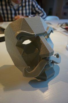 Moustache Mask Addon by yzorg  http://thingiverse.com/make:63748