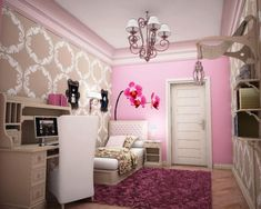I like this version of a lighter, slightly pinker radiant orchid. Teen Room for Small Rooms 2014