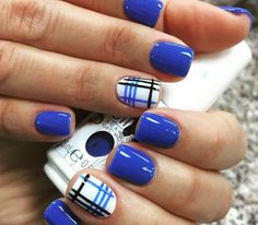 Ideas for royal blue manicure
