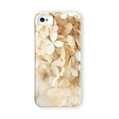 Beige Hydrangea iPhone 5 Case, iPhone 4 Case, Flower iPhone Case for Girls, For Women, Shabby Chic iPhone 5 Case, iPhone 4 Cover..