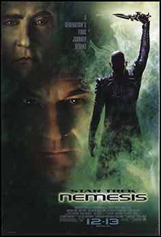 Star Trek: Nemesis 2002 ORIGINAL MOVIE POSTER Action Adventure Sci-Fi - Dimensions: 27 x 41 @ niftywarehouse.com #NiftyWarehouse #StarTrek #Trekkie #Geek #Nerd #Products