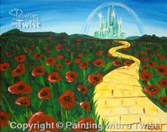 Yellow Brick Road   #PWAT  #PaintingWithATwist  Painting With A Twist