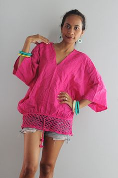 Loose Fit Boho Blouse by Nuichan, $32.00