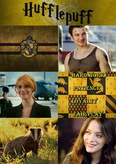 Avengers sorted into their respective Hogwarts houses - Hufflepuff