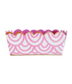 Design Darling home decor & monogrammed gifts — Scalloped Desk Organizer — Pink Waves