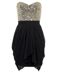 Lipsy V I P Sequin Bust Dress