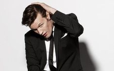Doctor Who's Matt Smith. WHOA. Who'd have thought a lack of elbow patches and bow tie would make this much of a difference.