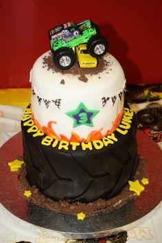 Luke's Monster Truck / Monster Jam birthday cake