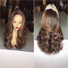 Beautiful brown curly wig – Oomfz