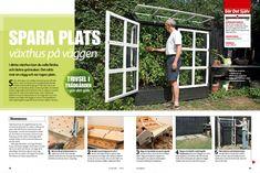 Växthus på väggen | Gör Det Själv Outdoor Structures, Gardens, Outdoor Gardens, Garden, House Gardens