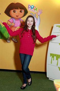 11-year old, Fatima Ptacek, snags new voice of  'Dora.' (Image credit: Angel Chevestt) http://on.today.com/zHkcom
