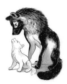 Lookin up at mama by TamberElla on DeviantArt Wolf Character, Character Design, Animal Sketches, Animal Drawings, Wolf Sketch, Wolf Spirit Animal, Dark Art Drawings, Drawing Wallpaper, Anime Animals