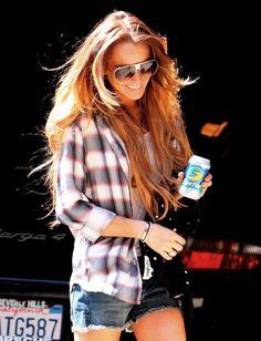 Lindsay Lohan's hair - length and colour