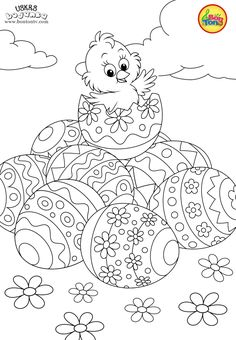 Easter coloring pages - Uskrs bojanke za djecu - Free printables, Easter bunny, eggs, chicks and more on BonTon TV - Coloring books Easter Egg Coloring Pages, Coloring Sheets For Kids, Cute Coloring Pages, Free Printable Coloring Pages, Coloring Books, Free Printables, Easter Projects, Easter Crafts, Digital Stamps