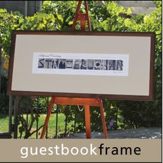 Wedding Guest Book Frame.  Friends and family sign the mat instead of a traditional guest book.