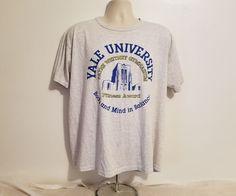 Yale University Adult Gray XL Short Sleeve TShirt #MVSport