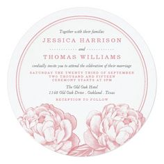 The Pretty Peony Floral Wedding Collection Square Paper Invitation Card Grey Wedding Invitations, Gold Invitations, Invitation Paper, Floral Invitation, Wedding Trends, Trendy Wedding, Pink Grey Wedding, Purple Gold, Peony
