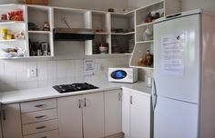 Esta es una de las cocinas en la residencia de la escuela del Sea Point