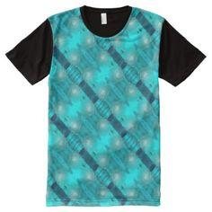 Cool Teal Blue Liquid Plastic Design 1264 All-Over-Print Shirt - cool gift idea unique present special diy
