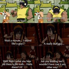 """""""The Ember Island Players    There's no other way to represent Toph    Hey guys, 1 more day until new Korra episo..... Oh....  ⇉ ⇉ ⇉…"""""""