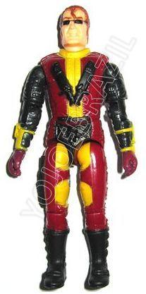 Descrição:  O Piloto do Lethax (Vândalo) foi lançado no Brasil em 1995 (Série 12) pela companhia de Brinquedos Estrela, a figura corresponde ao modelo swivel arm (com movimento nos cotovelos). Trata-se da versão nacional do Urban Crime Commander [Gristle] fabricado em 1993 pela Hasbro pela série G.I. JOE.
