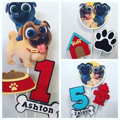 This Puppy Dog Pals Centerpiece / Puppy Party Decorations is just one of the custom, handmade pieces you'll find in our centerpieces shops. Puppy Birthday Parties, Puppy Party, Dog Birthday, Baby Party, Birthday Ideas, Birthday Centerpieces, Birthday Party Decorations, Bingo, First Birthdays