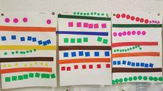 alignement PS: collage bandes + lignes de gommettes Pre Writing, Writing Skills, Petite Section, Preschool Kindergarten, Art Lessons, Montessori, Art For Kids, Education, Collage