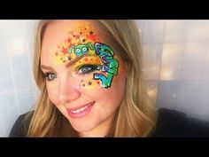 Graffiti Eye Face Painting and Makeup - YouTube