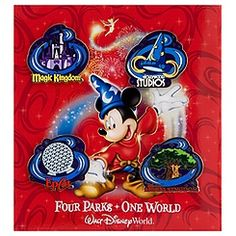 ''Four Parks - One World'' Walt Disney World Resort Pin Set - 4-Pc.
