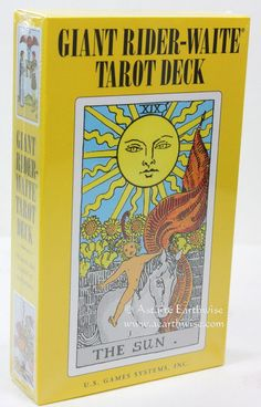 "RIDER WAITE TAROT CARDS 78 DECK ""GIANT"" WITH BOOKLET Wicca Witch Pagan Goth #Cards"