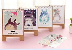 My Neighbor Totoro Mini desk calendar 2016 cute animal accessory date planner