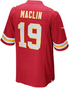 5c43fc5c7 Nike Men s Jeremy Maclin Kansas City Chiefs Game Jersey Jeu Reds