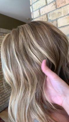 Brown Hair Color Shades, Dark Blonde Hair Color, Silver Blonde Hair, Balayage Hair Blonde, Ombré Hair, Light Brown Hair, Hair Highlights, Hair Looks, Dyed Hair