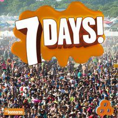 Don't freak out. Don't freak out. Don't freak out... AHHHH! 1 WEEK! 1 WEEK! 1 WEEK! 1 WEEK! BONNAROOOOOOO!!!!!!