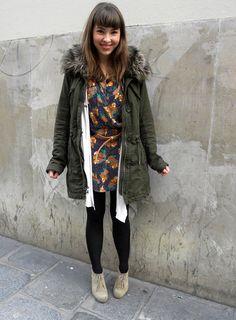 floral dress in winter // laura de lille