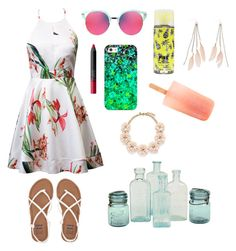 """""""getting ready for summer"""" by fabfashionindya ❤ liked on Polyvore featuring Gentle Monster, NARS Cosmetics, Billabong, Charlotte Russe, Casetify and J.Crew"""