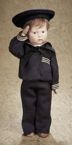 antique sailor doll