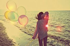 take me to the beach #beach #balloons #ocean