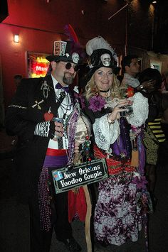 New Orleans, Louisianna - Voodoo Couple New Orleans Voodoo, New Orleans Mardi Gras, Cities, Blues, Couples, Big, Easy, Fashion, Moda
