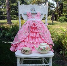 Tea Party Dress PATTERN by the Handmaiden's Cottage. $13.95, via Etsy.