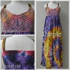 Tie-dye maxi dress -color Purple-  #fashionstore #doress #summer